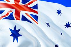 Australia naval ensign flag. 3D Waving flag design. The national symbol of Australia naval ensign, 3D rendering. National colors. And National flag of Australia stock photography
