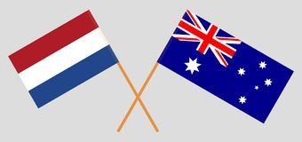 Australia and Netherlands. The Australian and Netherlandish flags. Official colors. Correct proportion. Vector. Illustrationn vector illustration