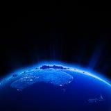 Australia and New Zeland city lights at night Royalty Free Stock Photo