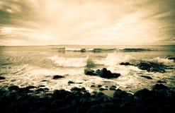 Australia, noosa coast. The sunset illuminated by Australia Noosa Coast royalty free stock photography