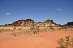 Australia, Northern Territory, Rainbow Valley. Australia, rock formation in Rainbow valley national park in Northern Territory Stock Images
