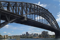 Australia, NSW, Sydney. Australia, harbour bridge in Sydney with people above Stock Photos