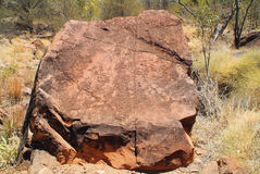 Australia, NT, Aborigines rock graving Stock Photography