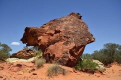 Australia, NT, Rainbow Valley, mushroom rock Royalty Free Stock Photo
