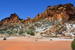 Australia, NT, Rainbow Valley. Australia, rock formation in Rainbow valley national park in Northern Territory Stock Photography