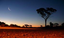 Australia occidental - puesta del sol Fotos de archivo libres de regalías