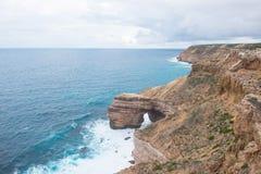 Australia occidentale della costa di Kalbarri Immagine Stock