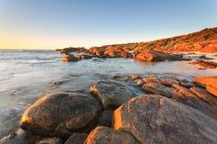 Australia occidentale della spiaggia di Redgate immagine stock