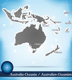 Australia-Oceania. With Abstract Background Stock Photos
