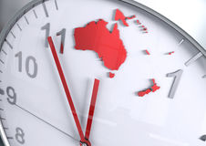 Australia Oceania continent countdown. Time to act Royalty Free Stock Photography