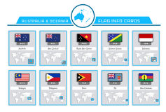 Australia and oceania info cards Royalty Free Stock Photo