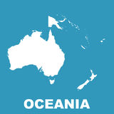 Australia and Oceania map. Flat vector. Pictogram Royalty Free Stock Photos