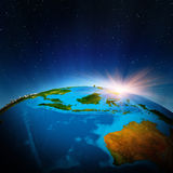 Australia and Oceania from space. Elements of this image furnished by NASA Royalty Free Stock Image