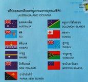 Australia and ocenia flag Royalty Free Stock Photography