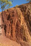 Australia, NT, Ochre Pits,. Australia, Ochre Pits - from Arrernte Aborigines used for body painting Royalty Free Stock Images