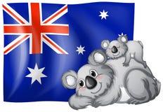 australia okulary stylu do wektora bandery Fotografia Royalty Free
