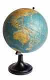 Australia on an old globe Royalty Free Stock Photos