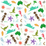 Australia pattern - seamless background. Royalty Free Stock Images