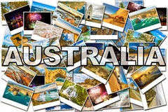 Australia pictures collage. Of several famous locations in the states of New South Wales, Victoria and Tasmania in Australia Royalty Free Stock Photos