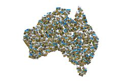 Australia pictures map collage Royalty Free Stock Image