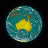 Australia on planet Earth Stock Image