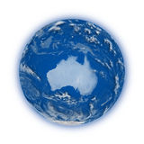 Australia on planet Earth Stock Photos