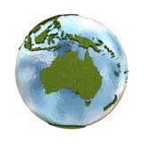 Australia on planet Earth Stock Photography