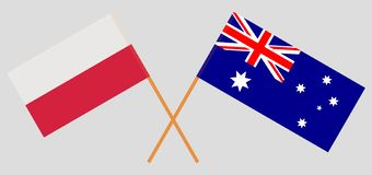 Australia and Poland. The Australian and Polish flags. Official colors. Correct proportion. Vector. Illustrationn stock illustration