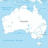 Australia - Political Map of Australia stock illustration