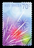 AUSTRALIA - Postage Stamp. AUSTRALIA - CIRCA 2014: A Stamp printed in AUSTRALIA shows the New Year Celebrations, circa 2014 royalty free stock images