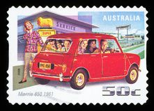 AUSTRALIA - postage stamp. AUSTRALIA - CIRCA 2006: A stamp printed in Australia shows Morris 850, 1961, circa 2006 stock photo