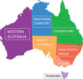 Australia provinces. Royalty Free Stock Photo