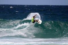 Australia que practica surf Imágenes de archivo libres de regalías
