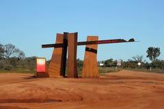 Australia. Red Cente royalty free stock photo