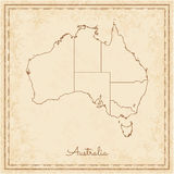 Australia Region Map: Stilyzed Old Pirate. Royalty Free Stock Images