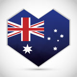 Australia related image. National flag australia related emblem image  illustration design Royalty Free Stock Photography