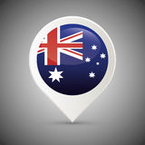 Australia related image. National flag australia related emblem image  illustration design Royalty Free Stock Photos