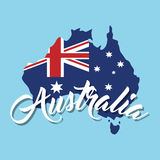 Australia related image. National flag australia related emblem image  illustration design Stock Photography