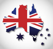 Australia related image. National flag australia related emblem image  illustration design Royalty Free Stock Image