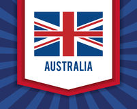 Australia related image. National flag australia related emblem image  illustration design Royalty Free Stock Images