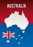 Australia related image. National flag australia related emblem image  illustration design Royalty Free Stock Photo