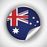 Australia related image. National flag australia related emblem image  illustration design Stock Photos