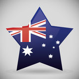 Australia related image. National flag australia related emblem image  illustration design Stock Images