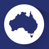 Australia related image. Territory outline australia related emblem image  illustration design Stock Images