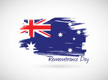 Australia remembrance day illustration Royalty Free Stock Images