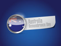 Australia remembrance day seal illustration design Stock Image