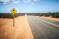 Australia road sign Mallee Fowl Royalty Free Stock Photo