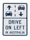 Australia road sign Royalty Free Stock Image
