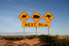 Australia Roadsigns Obrazy Royalty Free
