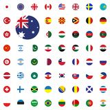 Australia round flag icon. Round World Flags Vector illustration Icons Set. Australia round flag icon. Round World Flags Vector illustration Icons Set Royalty Free Stock Photo